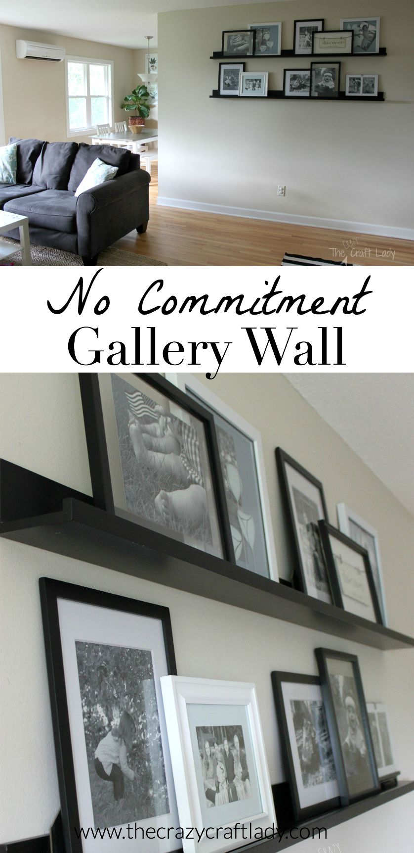 Creating A No Commitment Gallery Wall The Crazy Craft Lady