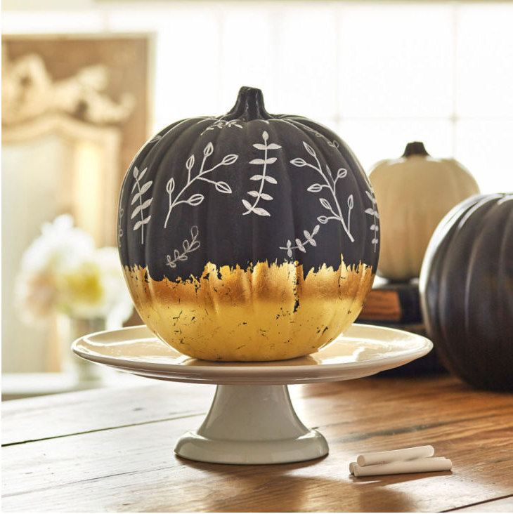 Fantastic DIY Gilded Pumpkins for Fall