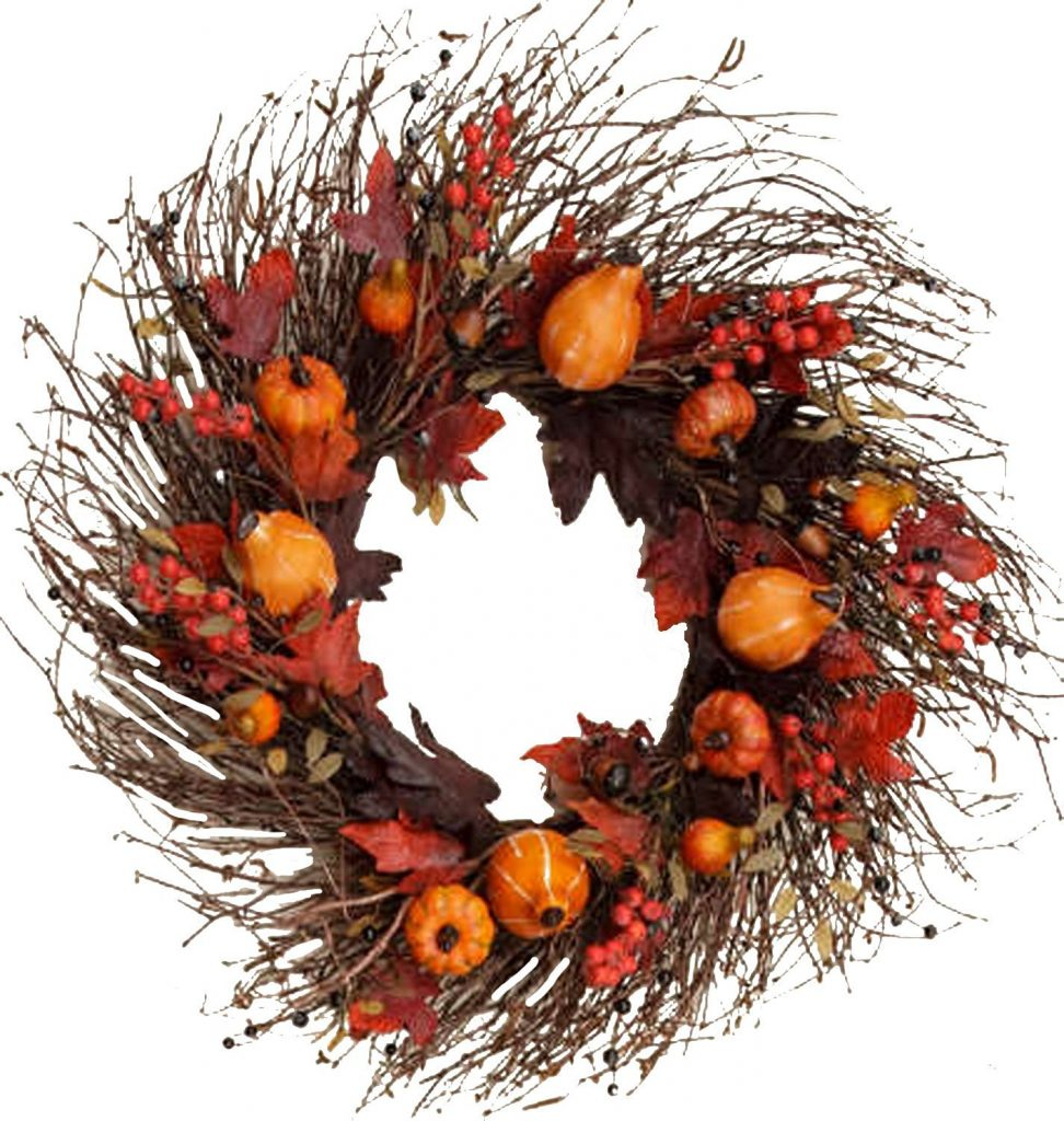 fall wreaths and affordable fall decor