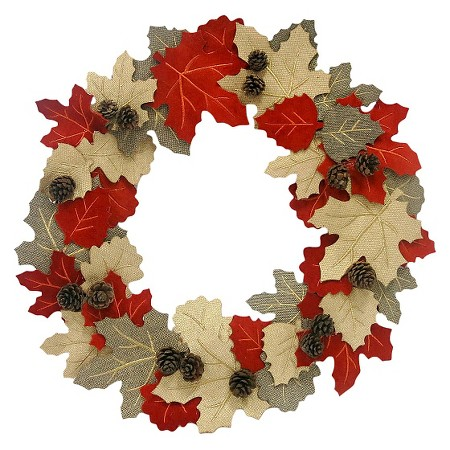 felt leaf wreath - affordable fall decor