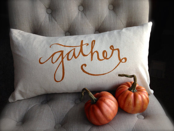 gather pillow - perfect for fall decor