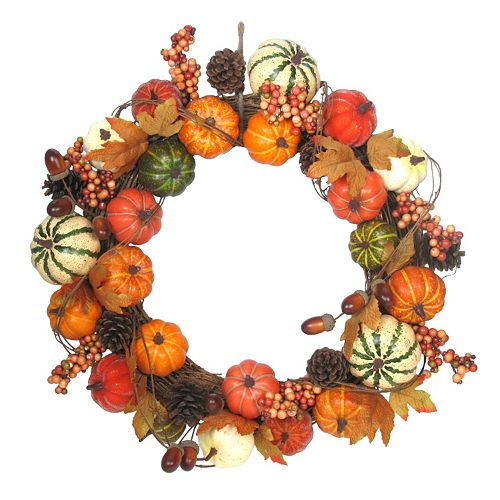 pumpkin harvest wreath - affordable fall decor