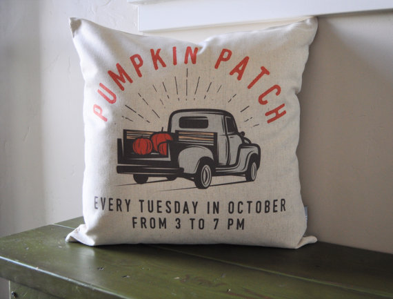 pumpkin patch pillow cover - affordable fall decor