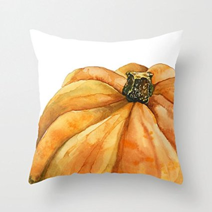 pumpkin pillow cover - affordable fall decor