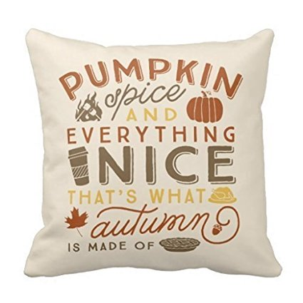 pumpkin spice pillow cover - affordable fall decor
