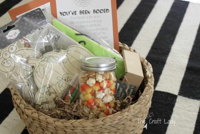Family Craft Night Themed Boo Basket