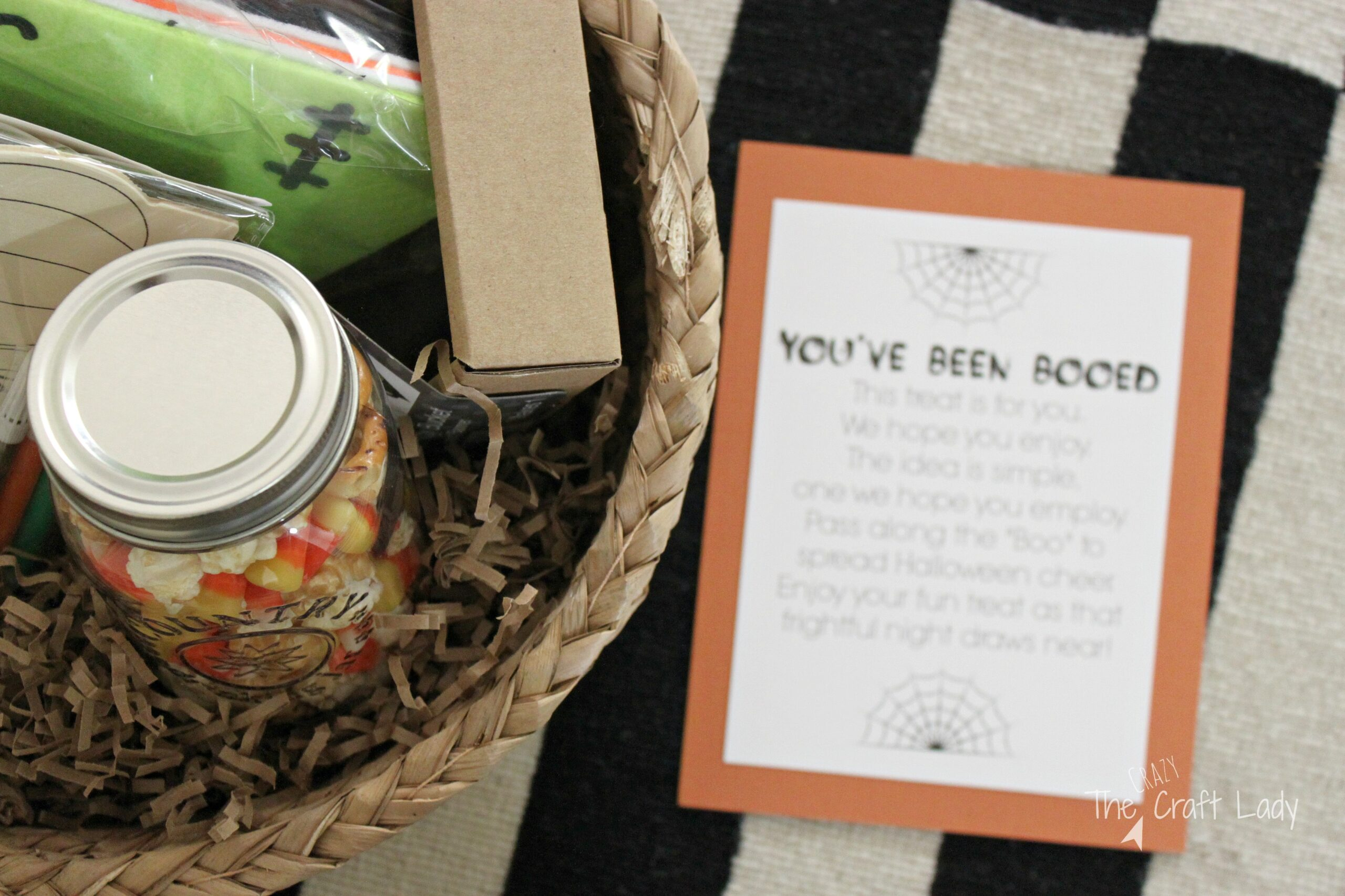 Family Craft Night Themed Boo Basket - The Crazy Craft Lady