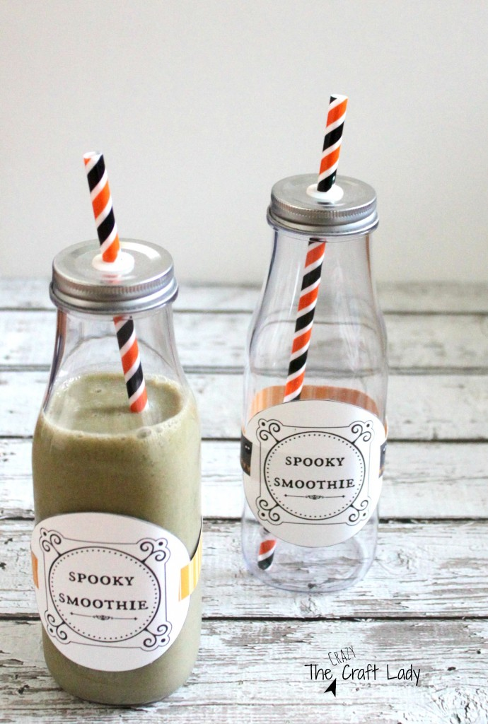 Spooky Smoothies and a Free Printable Label - the perfect, healthy, Halloween treat!