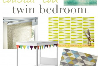 One Room Challenge Intro: A Coastal Cool Twin Bedroom
