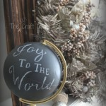 "DIY Pottery Barn ""Joy to the World"" Globe"