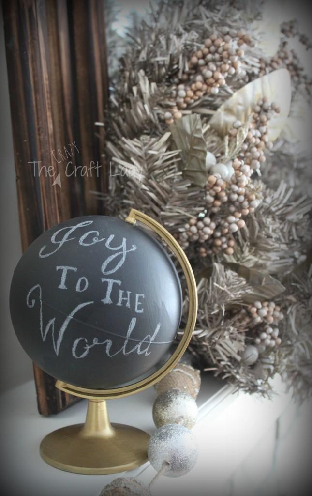 """DIY Pottery Barn """"Joy to the World"""" Globe"""