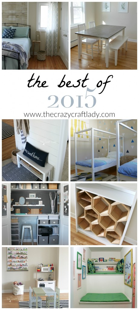 The Best of 2015 - DIY projects from The Crazy Craft Lady