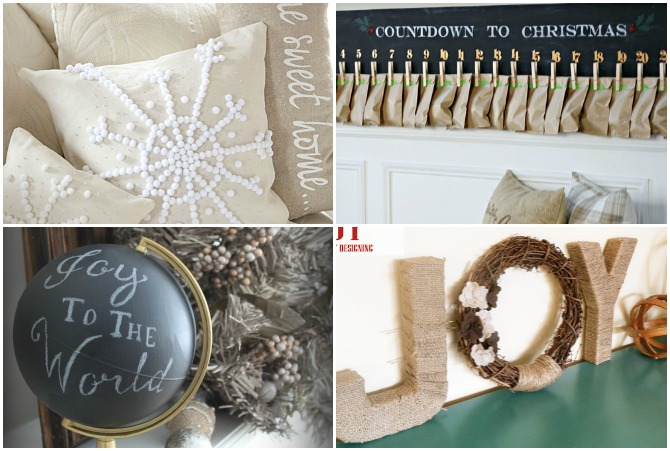 DIY Pottery Barn Christmas - these are som AMAZING PB-inspired knockoff projects for the holidays!