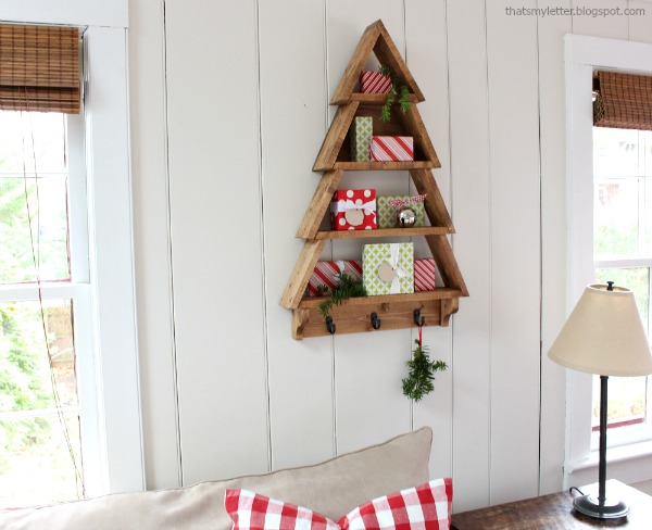 Pottery Barn inspired tree shelf