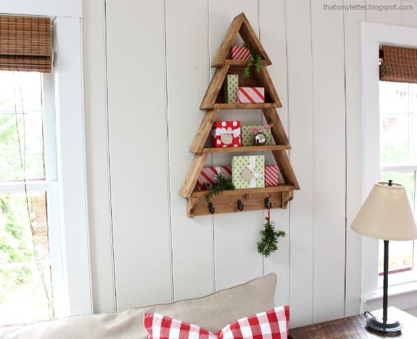Pottery Barn inspired tree shelf