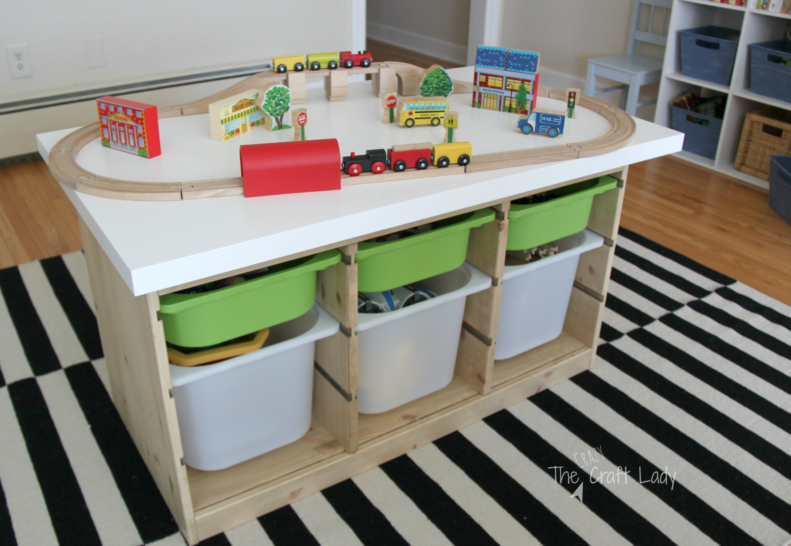 Charmant An Ikea Hack Custom Train And Activity Table With TONS Of Storage. This Is  Such
