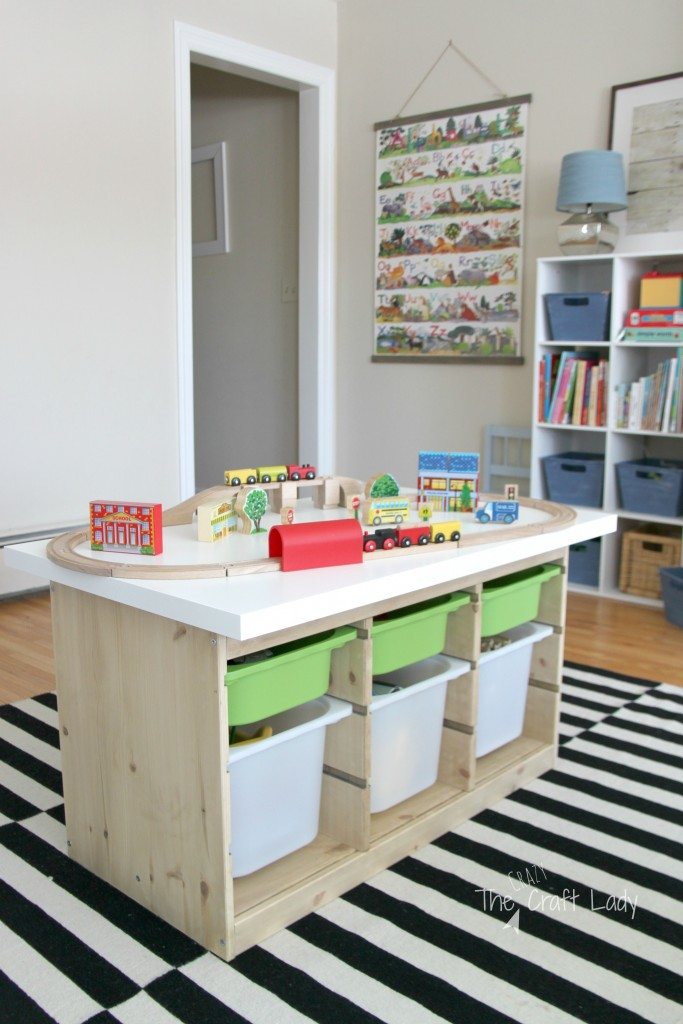 An Ikea Hack Train Amp Activity Table The Crazy Craft Lady