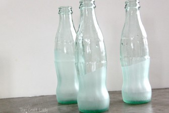 Sea Glass Painted Coca-Cola Bottles