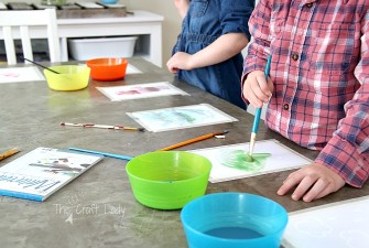 Easy Spring Watercolor Craft