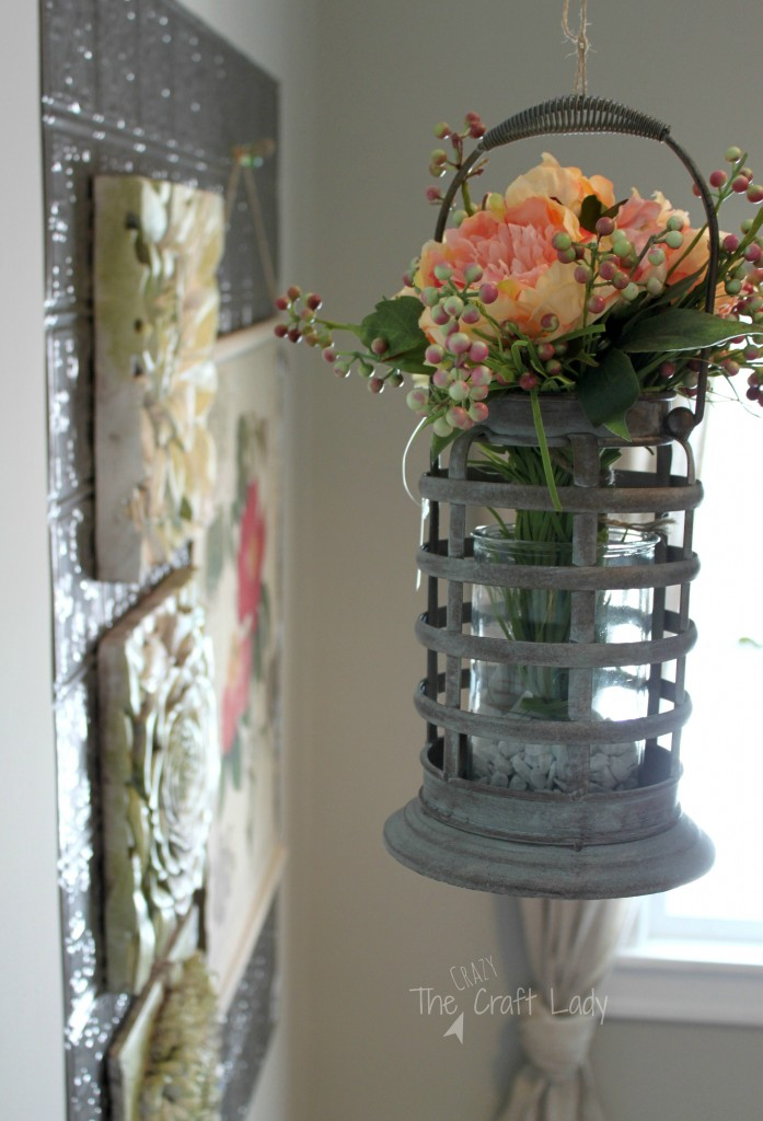 Hnaging lanterns with seasonal flowers - Get your home ready for Spring with some of my favorite Spring Home Decor Trends and tons of DIY inspiration!