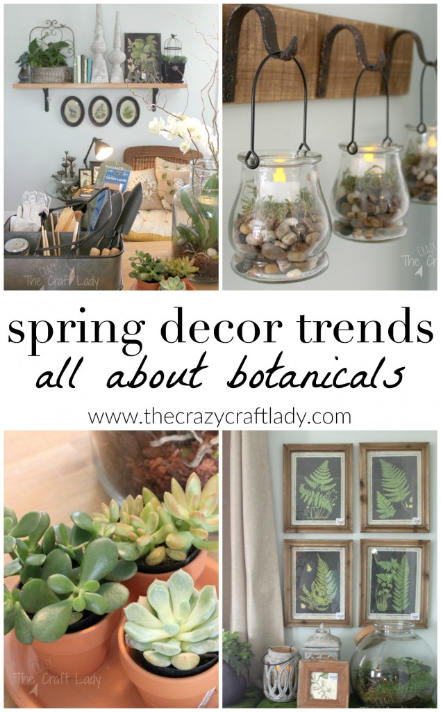 How to add botanical touches in your home this spring - Get your home ready for Spring with some of my favorite Spring Home Decor Trends and tons of DIY inspiration!