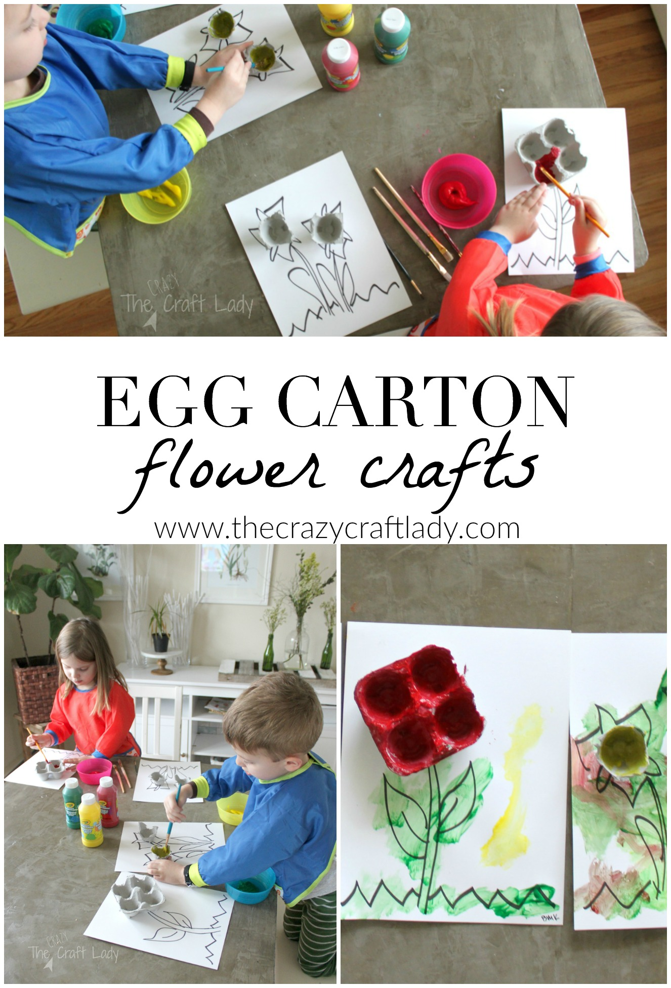 Egg Carton Flower Craft and Painting Activity