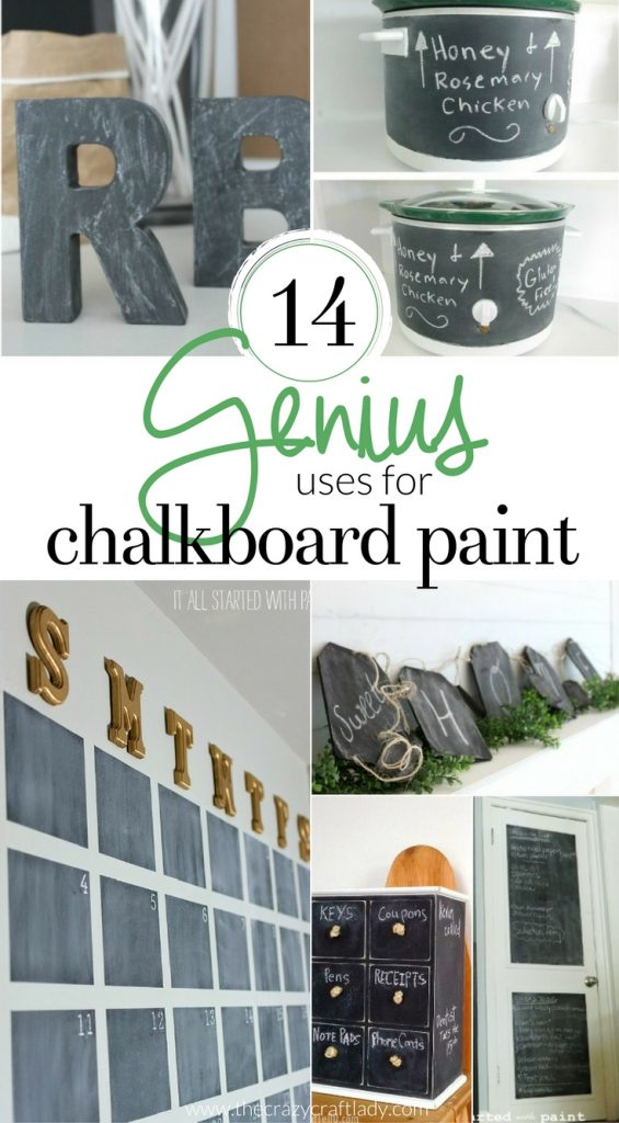 14 Genius Uses for Chalkboard Paint - chalkboard paint crafts and DIY projects