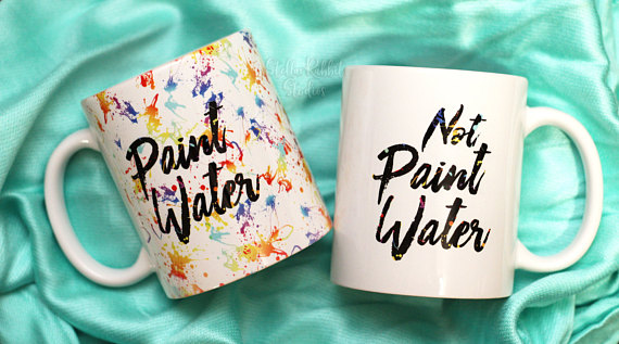 pain water mugs - Mother's Day Gift Guide for Crafty Moms - If your mom is a Crafty Mom, look no further. These are my favorite gifts for women. I've selected some perfect gift ideas for the crafty ladies - whether she's a Pinterest addict, crafter, baker, sewer, gardener, or anything else, I've got you covered!