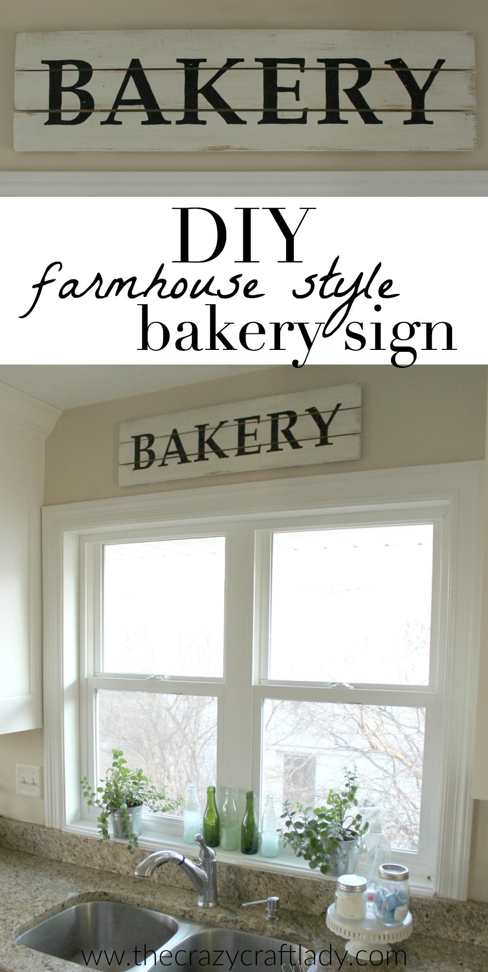 Diy Farmhouse Style Bakery Kitchen Sign The Crazy Craft Lady