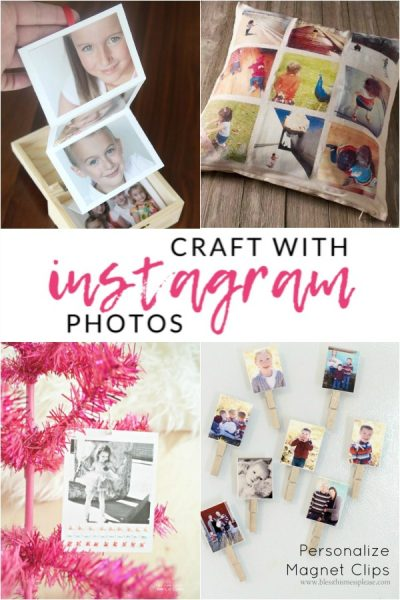 Get those instagram photos out of your feed with these DIY Instagram Photo Crafts. Check out these crafts for inspiration and see how to use instagram photos. Favorite photo crafts to make.