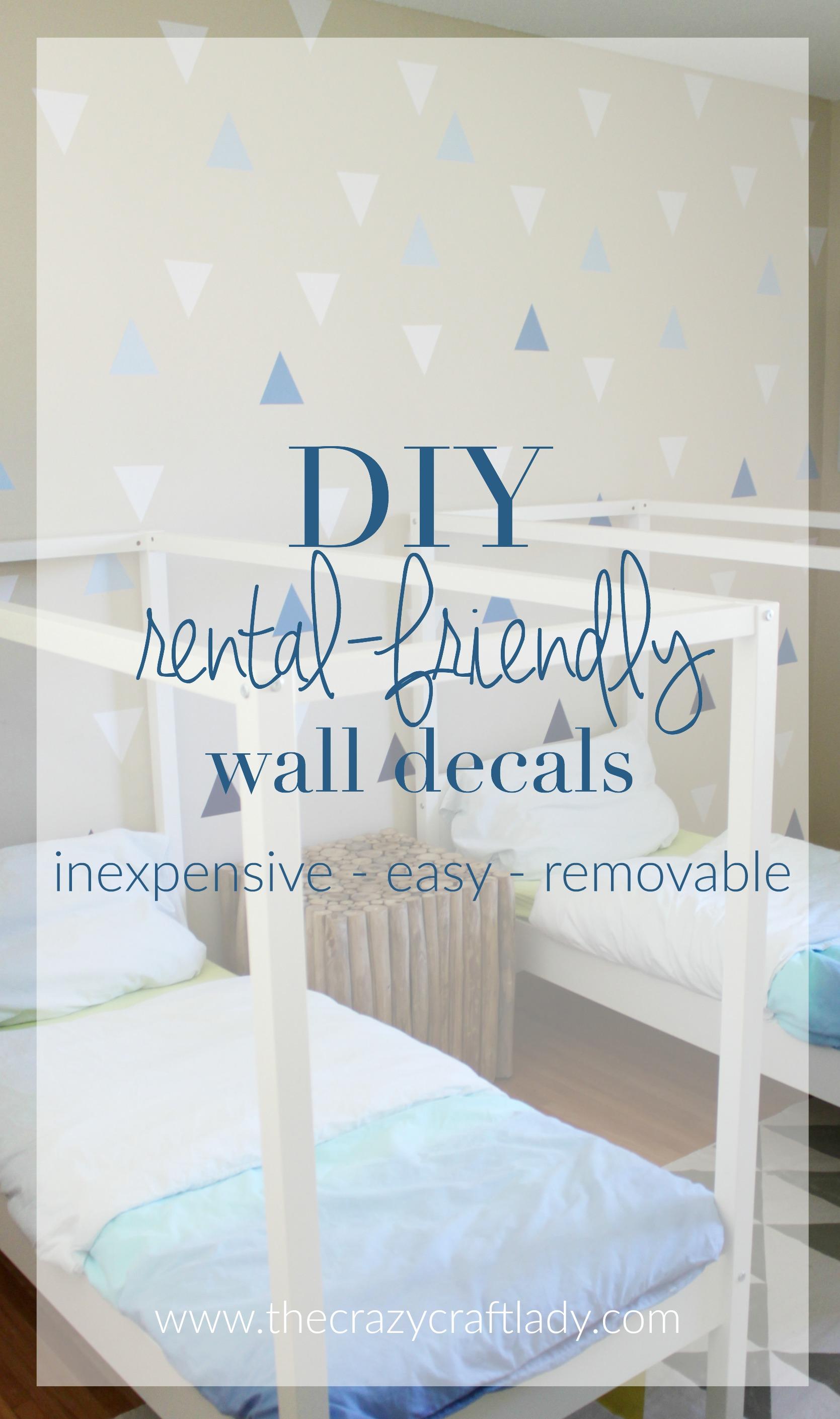 Diy Wall Decals Rental Friendly Decor A Feature Wall