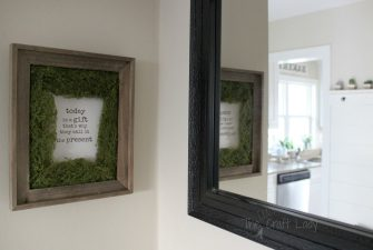 DIY Moss Photo Mat