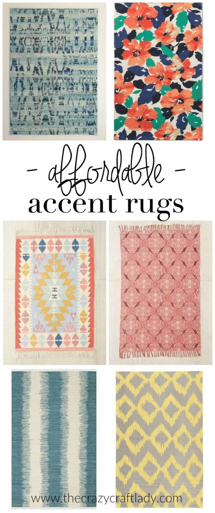 Affordable Accent Rugs + 3 Simple Tips for Using Area Rugs in Rental Decor