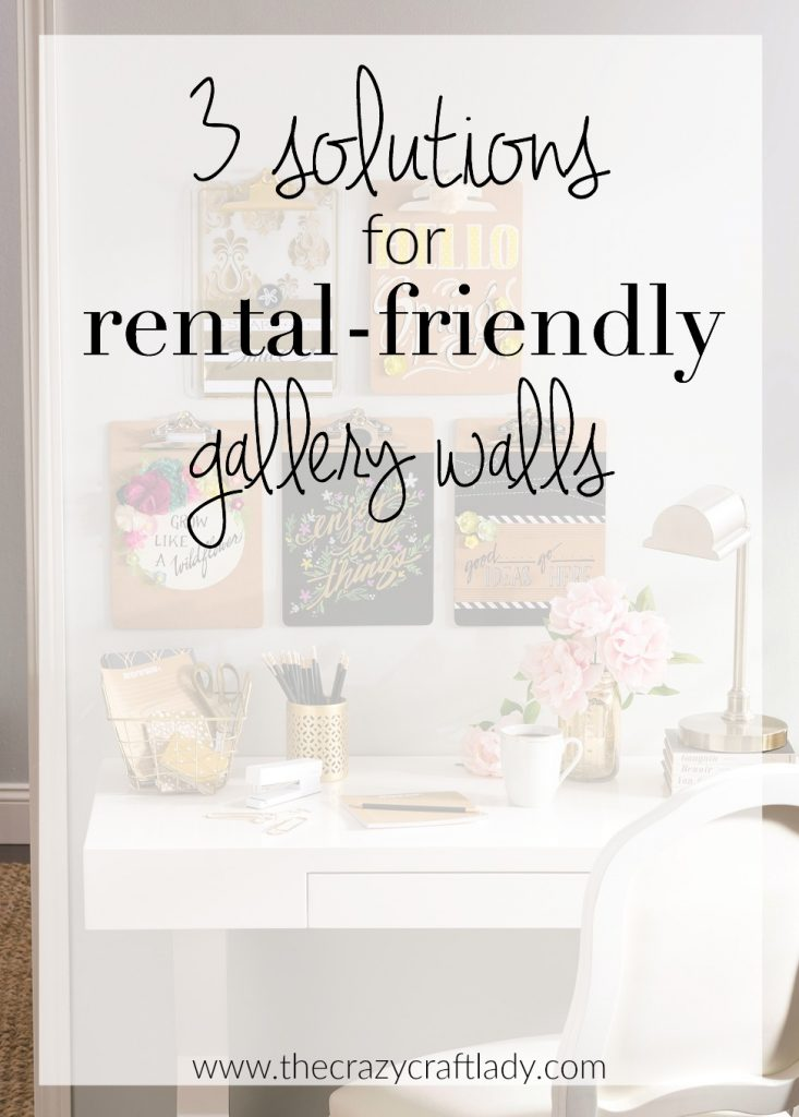 Three Solutions for Rental-Friendly Gallery Walls. Do you love gallery walls, but are afraid of damaging the walls in your rental house or apartment? Check out these three proven solutions to minimize wall damage and create beautiful gallery walls for your home.