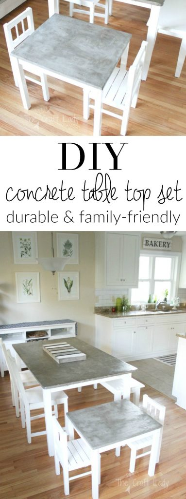 Follow this step-by-step tutorial to make a DIY concrete table top that is finished, sealed, and food-safe. It's a great durable option for a table top!