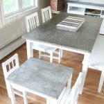 A step-by-step tutorial to make a DIY concrete table top that is finished, sealed, and food-safe. It's a great durable option for a table top!