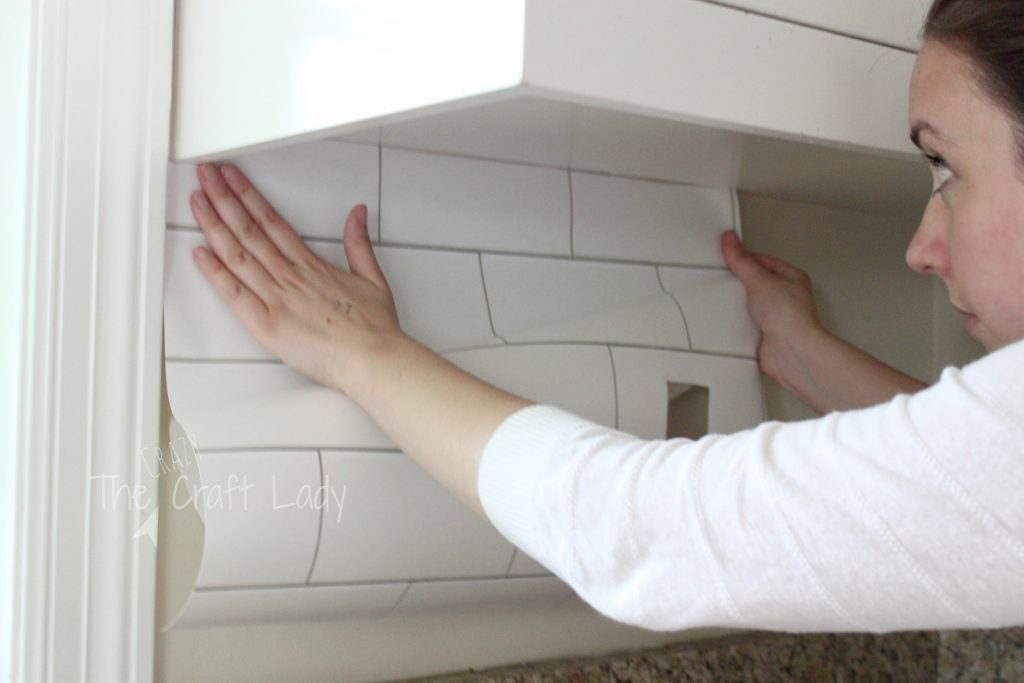 White Subway Tile Temporary Backsplash The Full Tutorial The