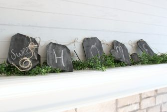 Mini Chalkboard Garland Craft