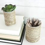 tin can craft with basket rope