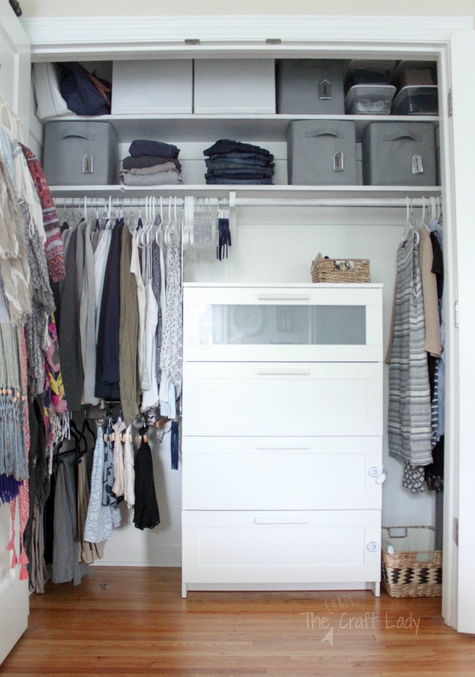 Small closet organizing 101 the crazy craft lady for Organization for small closets