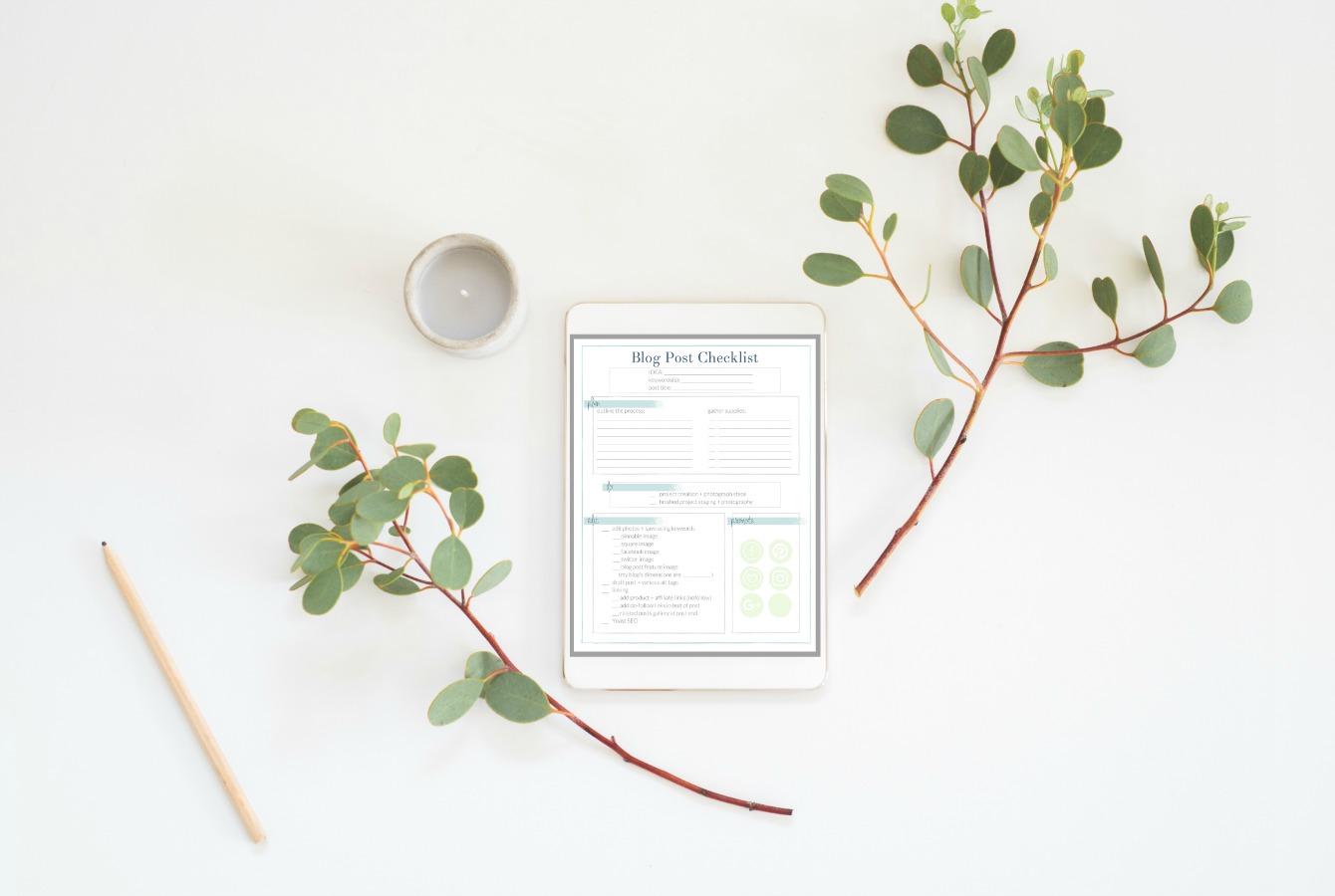 Blog Post Checklist - a free printable