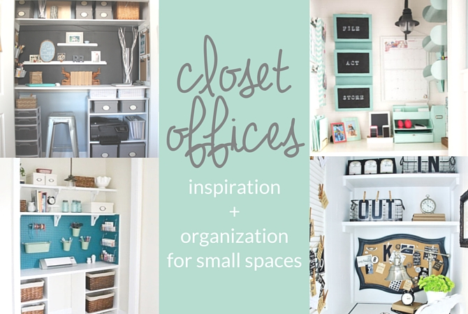 Closet Offices - inspiration and organization