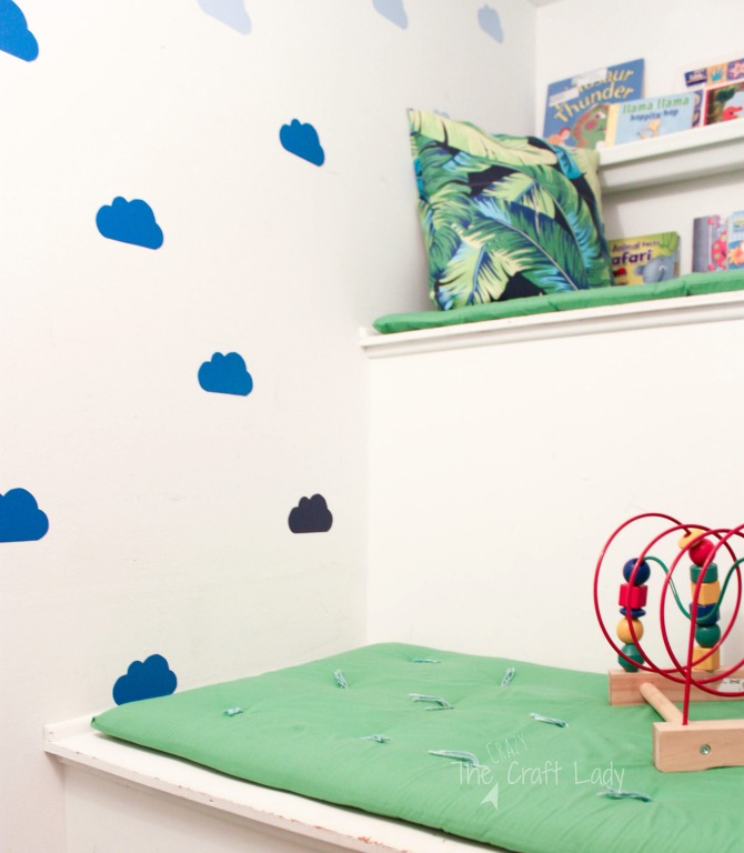 DIY Cloud Wall Decals - for a kids play space