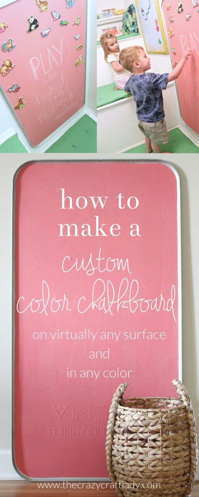 How to make a custom colored chalkboard - turn virtually any surface into a chalkboard in any color