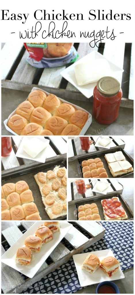 Make these easy chicken sliders - just four ingredients. The perfect quick weeknight meal!