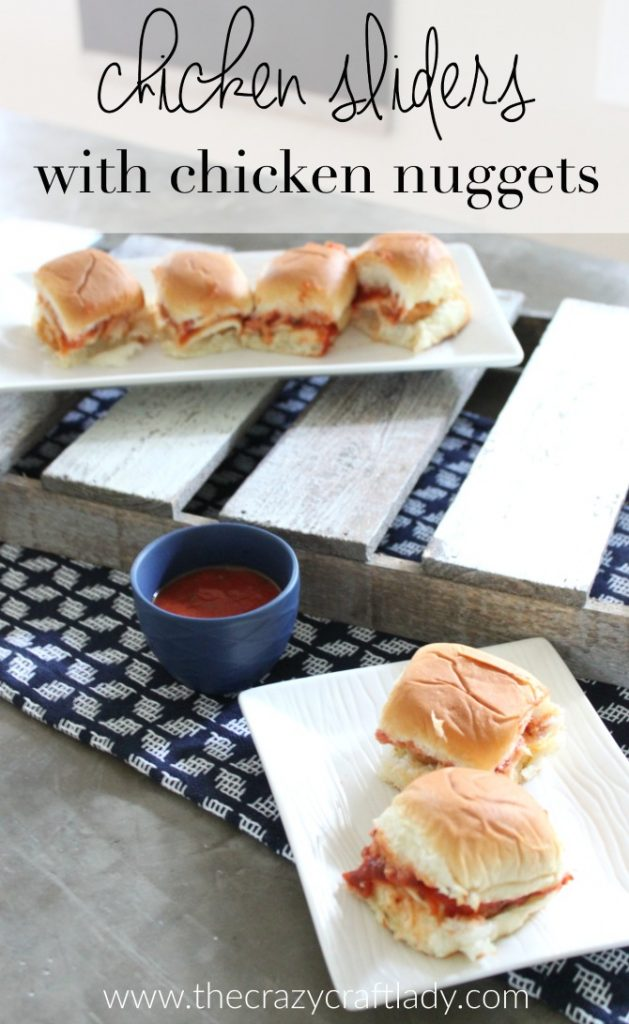 The Easiest Way to Make Sliders - with Hawaiian rolls, chicken nuggets, mozzarella cheese, and marinara. A quick weeknight meal idea.