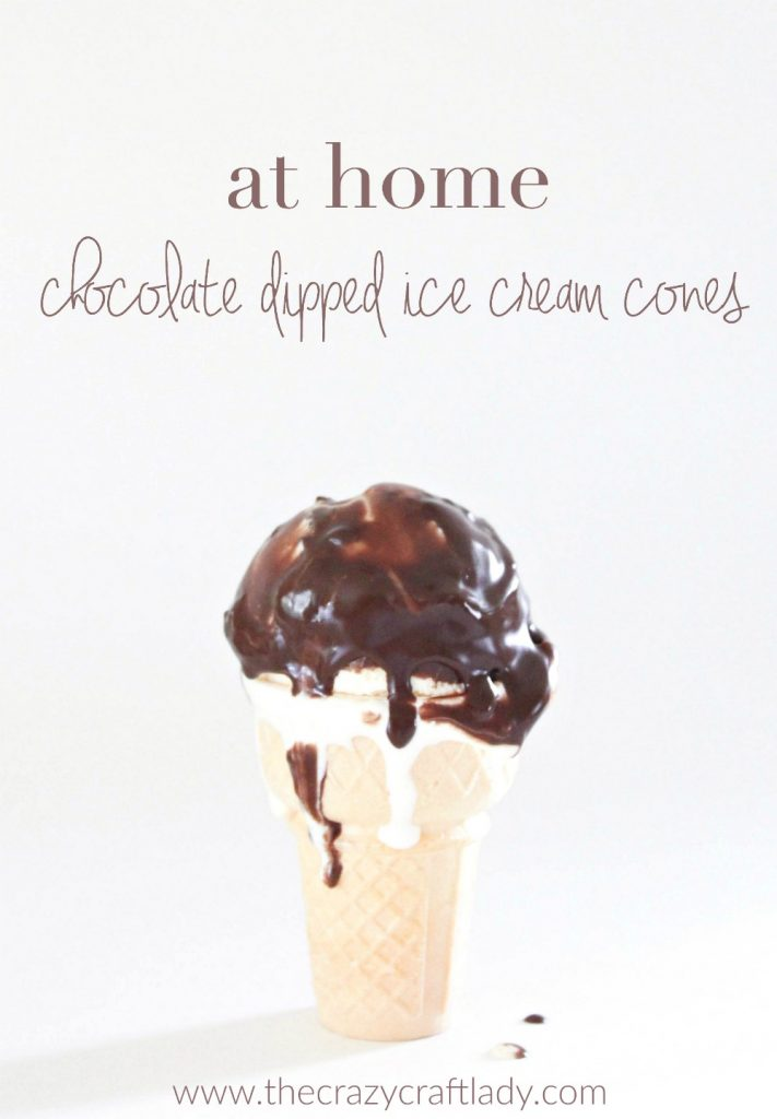 "make chocolate dipped ice cream cones at home - us this ""dipped cone ..."