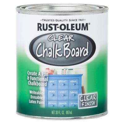 clear chalkboard paint