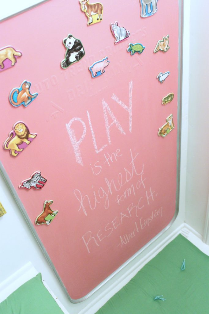 custom color chalkboard with colored chalkboard paint