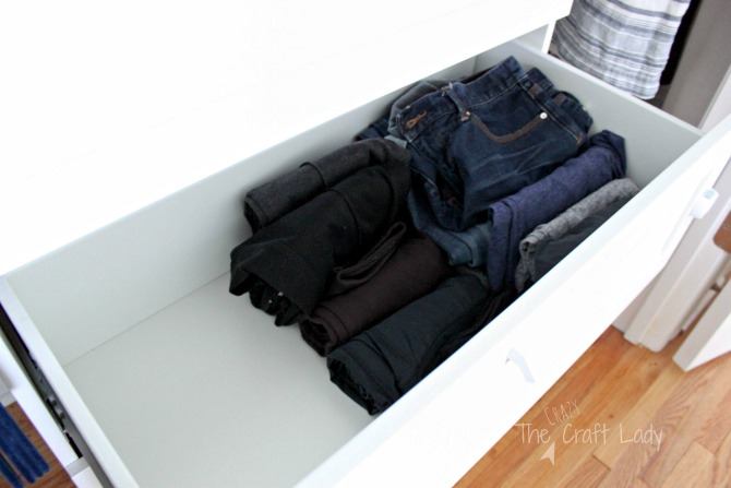 small closet organizing - leave space in your drawers